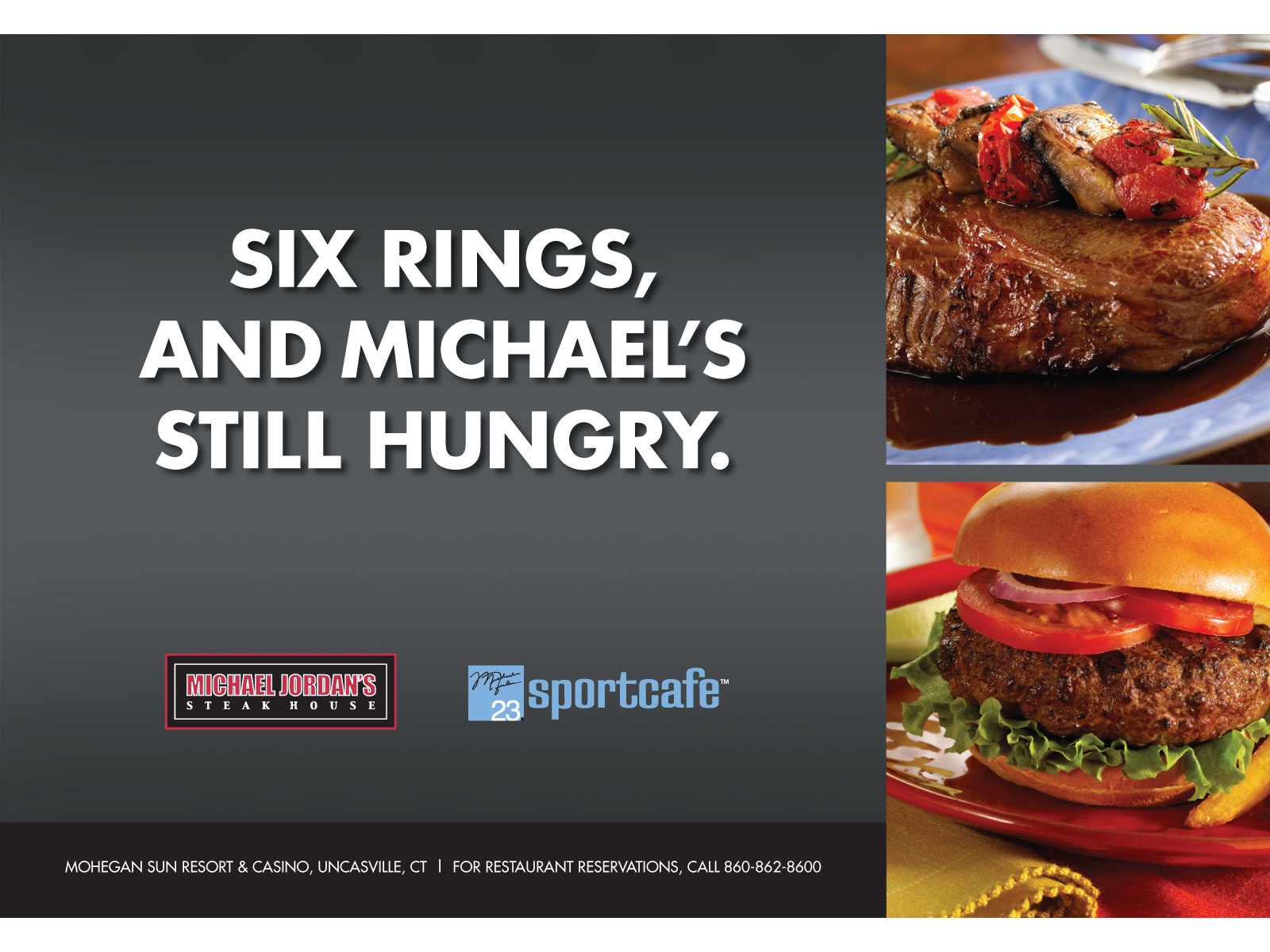 Michael Jordan Restaurants Print Ad
